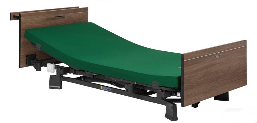 [プラッツ]ミオレット3  介護用2モーターベッド 木製宮付ボード  P113-21BB