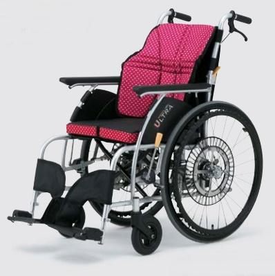 [日進医療器]ウルトラシリーズ 自走用車いす 自動ブレーキ機能付き NA-U1 G-Guard2 ジーガード