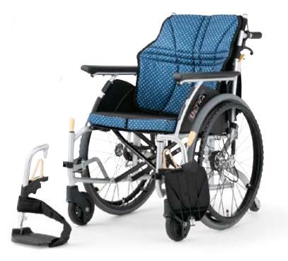 【法人宛送料無料】[日進医療器] ULTRA ウルトラシリーズ NA-U6 6輪タイプ 車椅子 自走式 折り畳み 座クッション標準装備 座り心地快適 エアタイヤ仕様 耐荷重100kg インディゴ/ワイン NISSIN