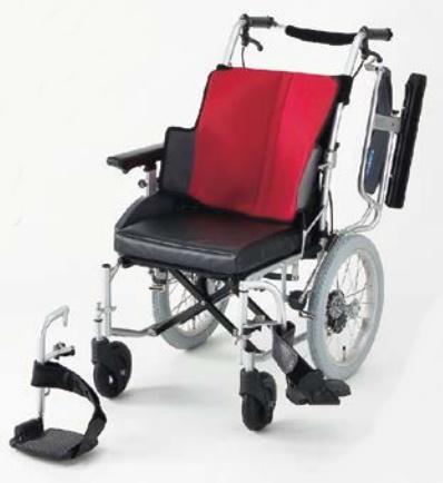 【法人宛送料無料】[日進医療器]座王 多機能型介助用車いす NAH-521W