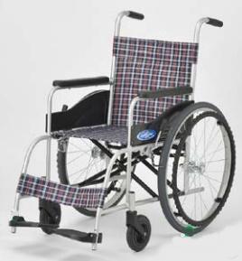 【法人宛送料無料】[日進医療器] NEO-0 車椅子 自走式 標準タイプ ノーパンクタイヤ仕様 リーズナブル 介助ブレーキ無し バックサポート固定 耐荷重100kg NISSIN
