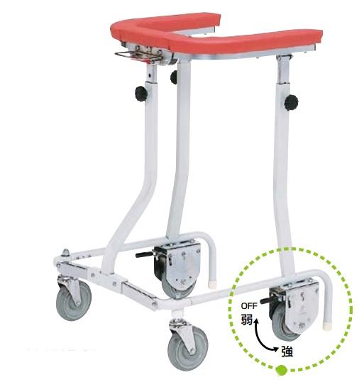 [日進医療器]折りたたみ式歩行車 抵抗器付 TY157B-SLG