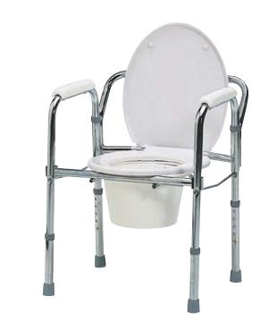 [日進医療器] 折りたたみ式トイレチェア TY524 ポータブルトイレ 簡易 介護 看護 スチール製 種類 重量8kg NISSIN