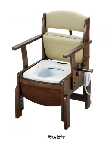 [リッチェル]木製トイレ きらくコンパクト 暖房便座 18530