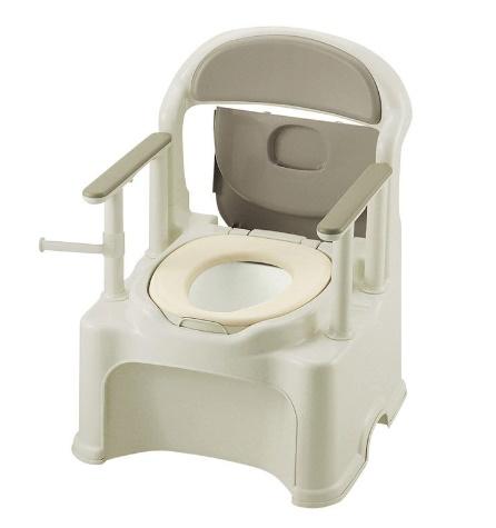 [リッチェル]ポータブルトイレ きらく PS2型 普通便座 47530
