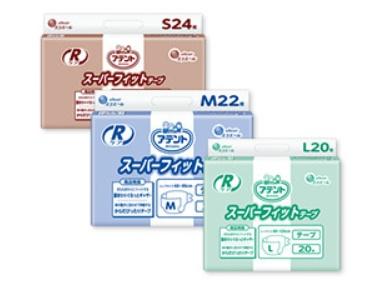 体の動きにあわせて伸縮する からだぴったりテープ 最安値挑戦 大王製紙 アテント 驚きの値段 ケース 24枚×3袋入り スーパーフィットテープ サイズS