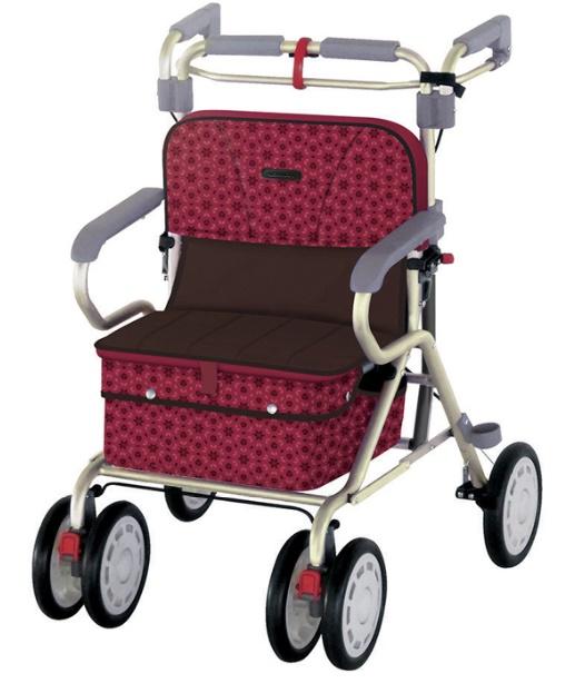 歩行と着座での安心感へのこだわり リーマン ナウワイド 歩行器 歩行車 介護 高齢者 折りたたみ可能 歩行補助 屋外用 メーカー直売 種類 大人用 イス付 安値