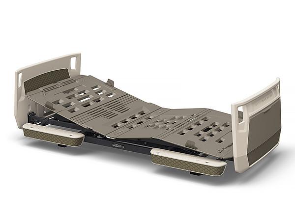 スマートフォンによる家庭内呼び出し機能を搭載 パラマウントベッド 楽匠プラス Xタイプ 使い勝手の良い 超低床対応 2モーター 送料無料激安祭 83幅 レギュラー ミニ モスグリーン キャメル グレージュ KQ-A2111 背膝連動 介護 高さ調節 背あげ PARAMOUNT ベッド BED 電動 KQ-A2122 リクライニング 膝あげ KQ-A2133