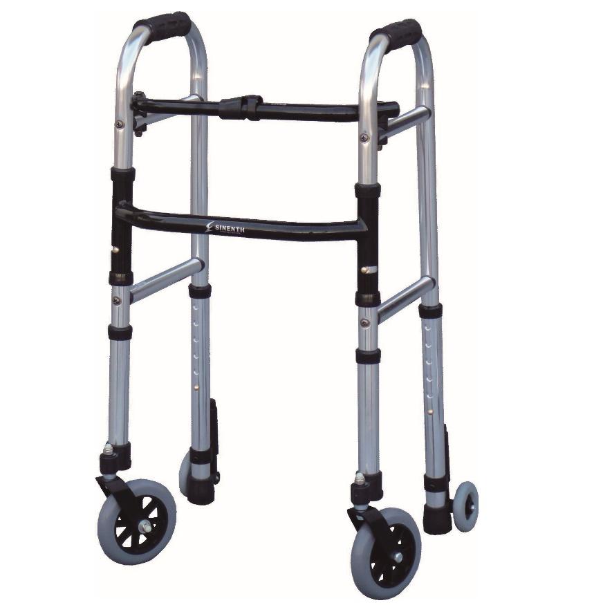 新色追加して再販 児童 円背または小柄な方の歩行訓練に最適です シンエンス ミニフレームウォーカー キャスターモデル 訳ありセール 格安 Sサイズ WFM-4262SW3GW 屋内用 高齢者 種類 歩行補助 介護 折りたたみ 歩行器 コンパクト