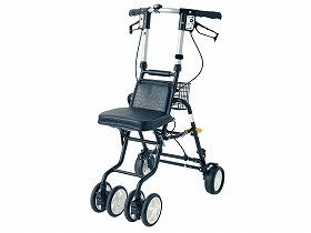 シンプルで男性にも使いやすい 島製作所 テノールEVO シルバーカー 押し車 コンパクト 人気 イス付 種類 高齢者用 座れる 介護用 歩行補助 屋外用 《週末限定タイムセール》 折りたたみ可能