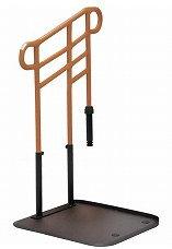 [モルテン] ルーツ あがりかまちタイプ 高さH型 片手すり MNTPKH1BR ステップ台無し 介護 玄関 段差昇降支え 置き型 置くだけ 簡単設置 工事不要 重量32.8kg 手すり高さ78~85cm 対応段差18~36cm molten