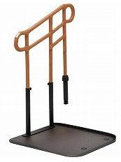 [モルテン] ルーツ あがりかまちタイプ 高さL型 片手すり MNTPKL1BR 介護 玄関 段差昇降支え 置き型 置くだけ 簡単設置 工事不要 重量31.9kg 手すり高さ78~85cm 対応段差4~18cm molten
