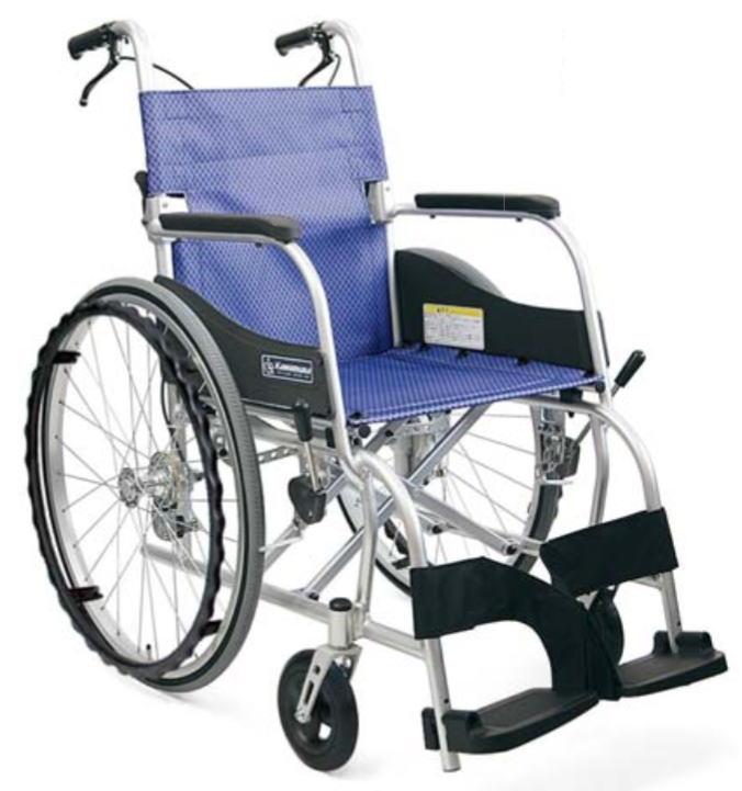自走式で9.6kg 全幅61.5cm 座幅42cmのゆったり座れる軽量車椅子 法人宛送料無料 直営限定アウトレット カワムラサイクル 車椅子 軽量 人気の製品 自走式 ふわりす KF22-42SB すみれパープル エアタイヤ 座幅42cm 折り畳み可能 ゆったりサイズ SGマーク KAWAMURA 種類 さんごピンク 耐荷重100kg