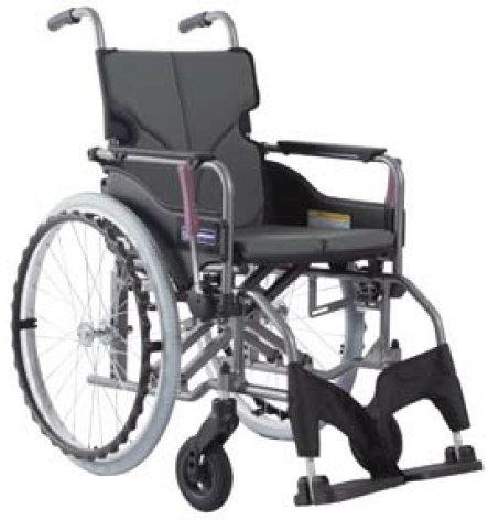 [カワムラサイクル] アルミ自走用車いす モダンシリーズ Aスタイル ノーパンクタイヤ・背固定式 超高床タイプ(前座高47cm) KMD-A22-40S-SH KMD-A22-42S-SH