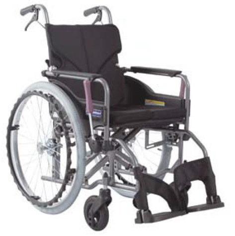 [カワムラサイクル] アルミ自走用車いす モダンシリーズ Aスタイル 中床タイプ(前座高43cm) KMD-A22-40-M KMD-A22-42-M