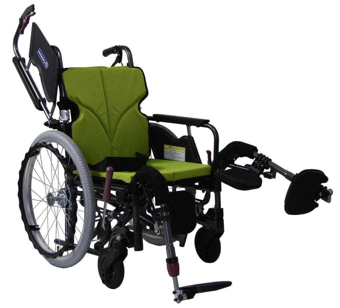 [カワムラサイクル] アルミ自走用車いす モダンシリーズ Bスタイル 脚部エレベーティング式 低床タイプ(前座高40・38・36cm) KMD-B20-40(38・42)-EL-LO(SL・SSL)