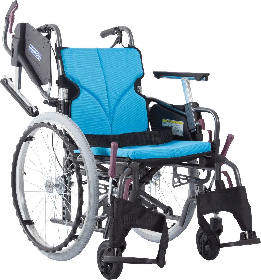 [カワムラサイクル] アルミ自走用車いす モダンシリーズ Cスタイル 中床/高床タイプ(前座高43・45・47cm) KMD-C22-40(38・42)-M(H・SH)