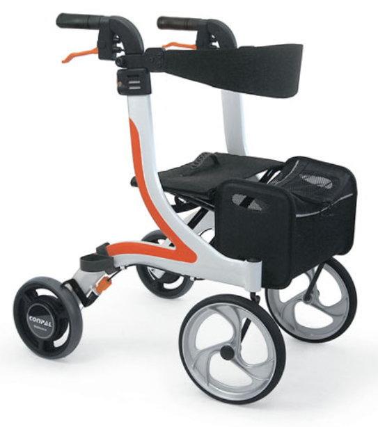 [カワムラサイクル] 屋内外両用歩行車 KW41 (抑速ブレーキ内蔵ホイール付)