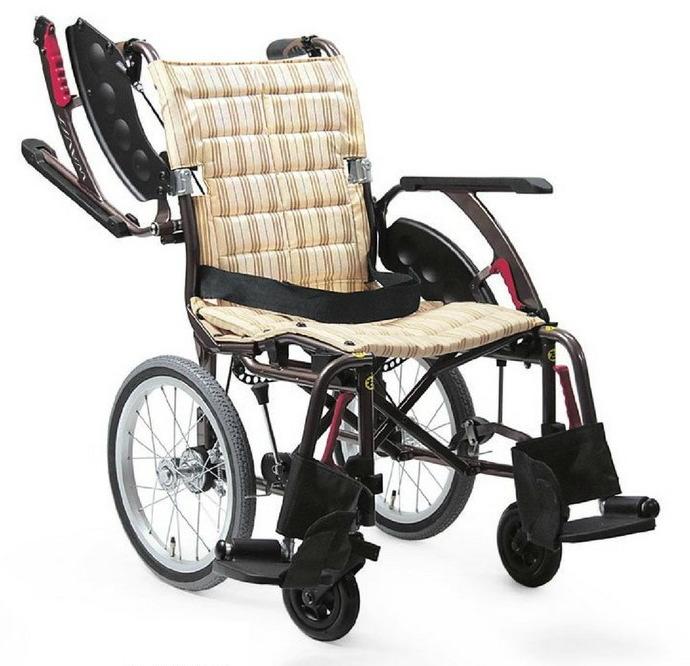 [カワムラサイクル] 介助用標準車いす WAVIT+ (ウェイビットプラス) WAP16-40A WAP16-42A (エアタイヤ(軽量)仕様・介助ブレーキ付)