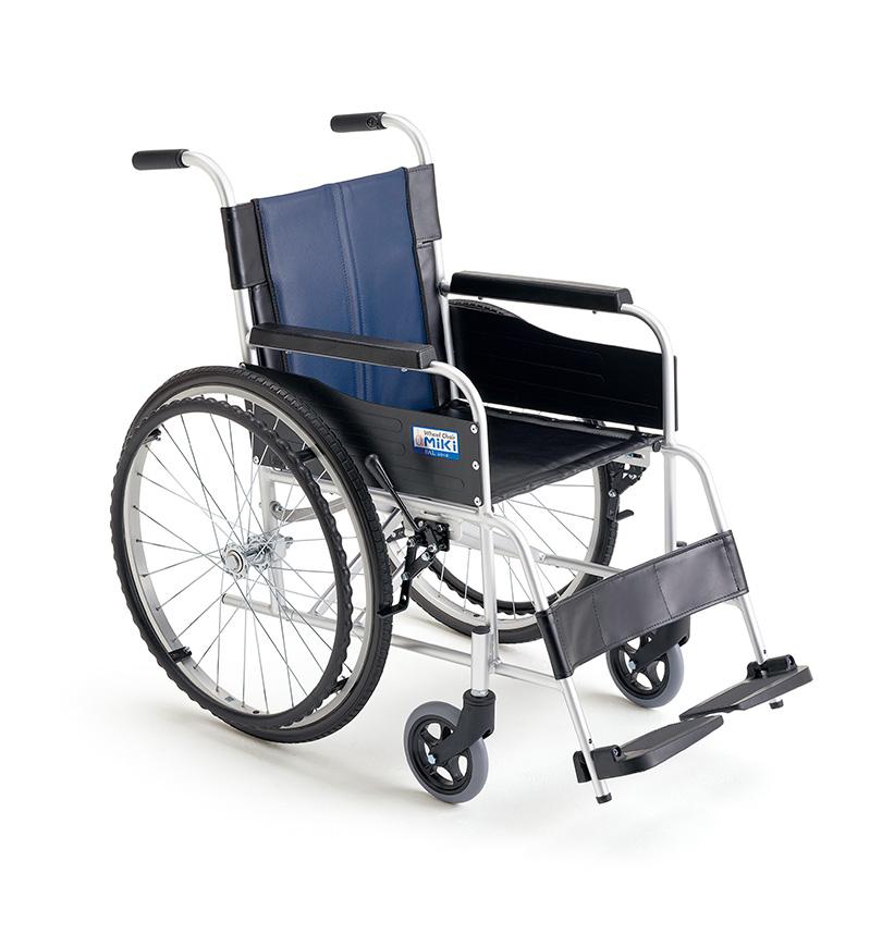 【法人宛送料無料】[ミキ] BAL-0 車椅子 自走式 標準タイプ ノーパンクタイヤ仕様 リーズナブル 耐荷重100kg MiKi