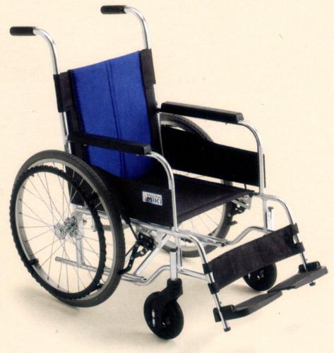 [ミキ] アルミフレーム自走用車いす BAL-0S (低座面+座面高モジュール ノーパンクタイヤ)