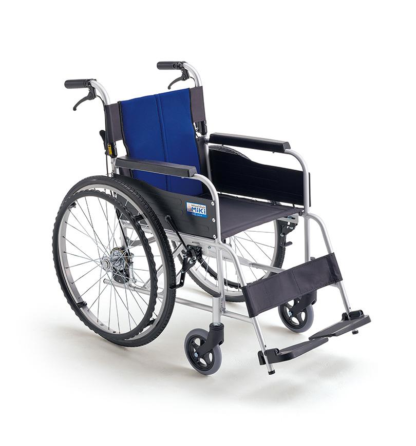 [ミキ] アルミフレーム自走用車いす BAL-1 (ノーパンクタイヤ・介助ブレーキ付)
