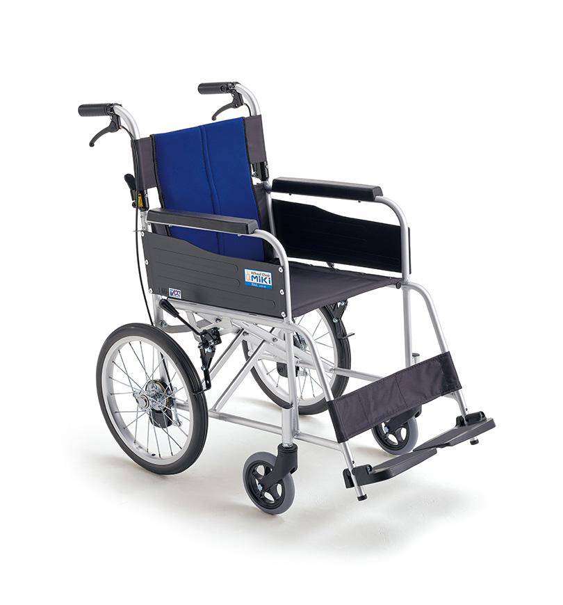 ハイポリマータイヤ仕様のリーズナブルモデル 受注生産品 法人宛送料無料 ミキ 車椅子 介助式 お金を節約 BAL-2 折りたたみ リーズナブル MiKi 標準タイプ ノーパンクタイヤ仕様 耐荷重100kg