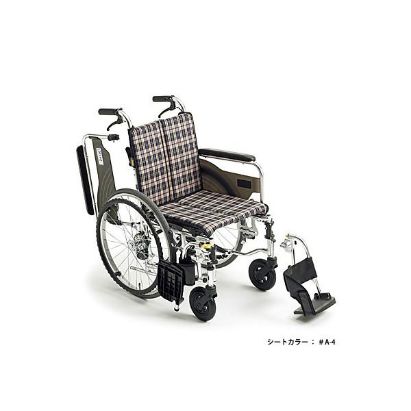[ミキ] 自走用アルミ製コンパクト車いす スキット4 SKT-4 (介助ブレーキ付)【中古】