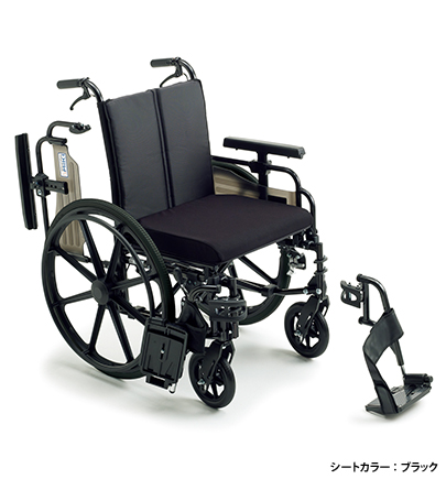 [ミキ] KJP-4 ビッグサイズ・自走型多機能車いす (ノーパンクタイヤ仕様)