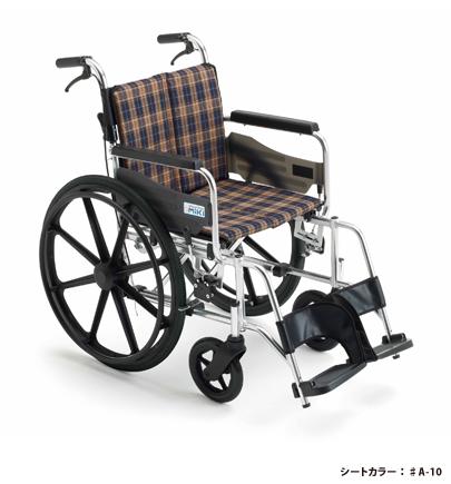 [ミキ] KJP-2H 車椅子 自走式 ビッグサイズ 高座面タイプ ノーパンクタイヤ仕様 折りたたみ 耐荷重130kg 座幅45cm MiKi (受注後生産品)