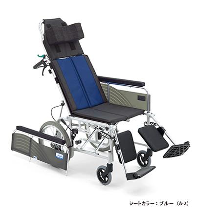 BAL-14 耐荷重100kg リクライニング車椅子 エレベーティング機能付 リーズナブル MiKi 介助式 肘掛取り外し 折りたたみ 【法人宛送料無料】[ミキ] ノーパンクタイヤ仕様