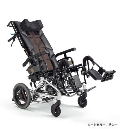 [ミキ] ティルト・リクライニング車いす グランドフリッチャー ユニ ダッシュ シルバーパッケージ Grand Fletcher Uni Dash sp