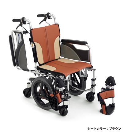 【法人宛送料無料】[ミキ] スキット600 SKT-600 車椅子 6輪車 介助式 スリム コンパクト ノーパンクタイヤ仕様 折りたたみ ブルー/レッド/ブラウン 耐荷重100kg MiKi