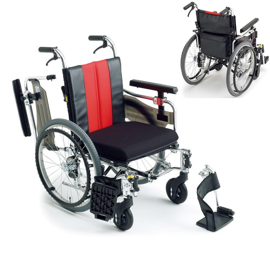 [ミキ] アルミモジュール自走用車いす MM-Fit Lo 20 (低座面型)