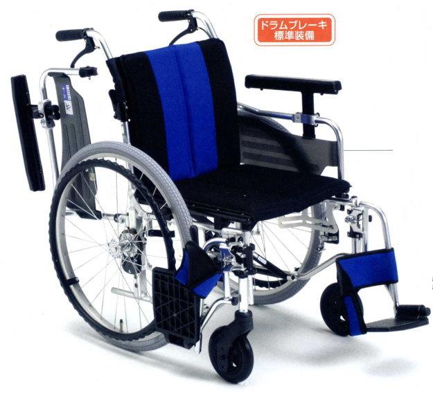 [ミキ] アルミ自走用車いすMYU4-22<μ-4>