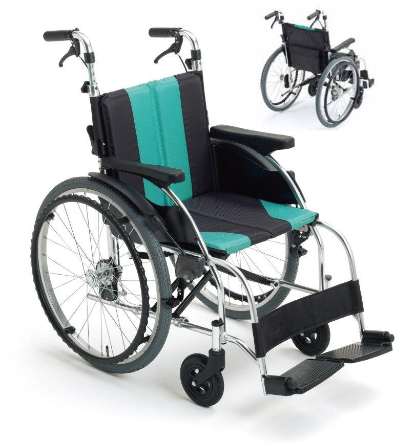 [ミキ] アルミ自走車いす UR-1 (座幅40cm 前座高43.5cm)(受注後生産品)