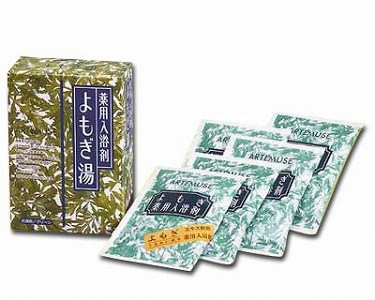 [三興物産] よもぎ薬用バスソルト 分包タイプ(医薬部外品 (30g×5包)×48箱入)