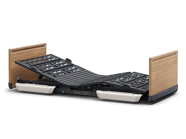 [パラマウントベッド] 超低床電動ベッド 楽匠FeeZ(フィーズ) 2モーター レギュラーサイズ・91cm幅対応 木製ボード KQ-7733