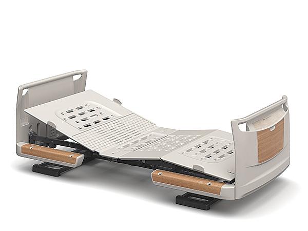 [パラマウントベッド] 電動ベッド 楽匠Z KQ-7121S(スマートハンドル付属 1モーションタイプ ミニサイズ・91cm幅対応 セーフティーラウンドボード(木目調))