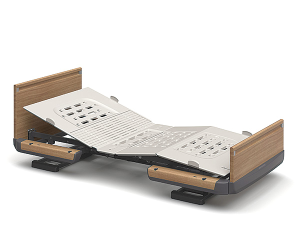 背と膝の連動と、背の単独動作が切り替えられる電動介護用ベッド [パラマウントベッド] 電動ベッド 楽匠Z KQ-7132S(スマートハンドル付属 1モーションタイプ レギュラーサイズ・91cm幅対応 木製ボード)