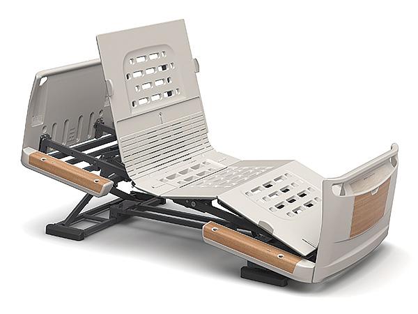 [パラマウントベッド] 電動ベッド 楽匠Z KQ-7311S(スマートハンドル付属 3モーションタイプ レギュラーサイズ・83cm幅対応 セーフティーラウンドボード(木目調))