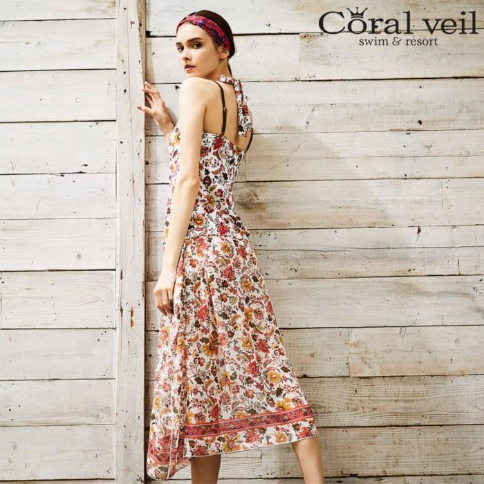 【Coralveil】Gardenタンキニ3点セット水着9号/11号水着みずぎミズギ3点セット水着レディース水着