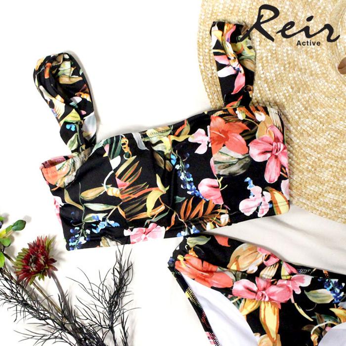 【Reir】【YOGA】花柄 トップス 9号/11号 水着 みずぎ ミズギ トップス レディース水着