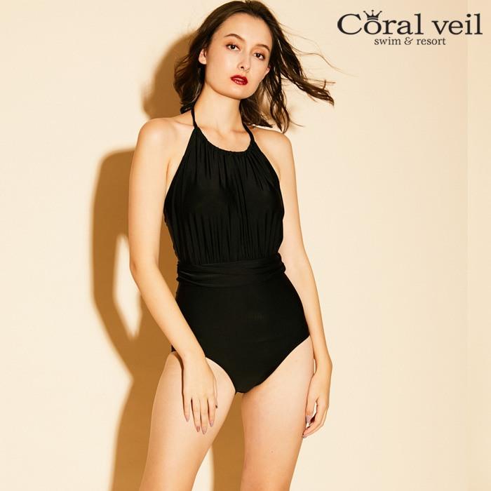 【Coral veil】Loyme ワンピース水着 9号/11号 水着 みずぎ ミズギ ワンピース水着 レディース水着