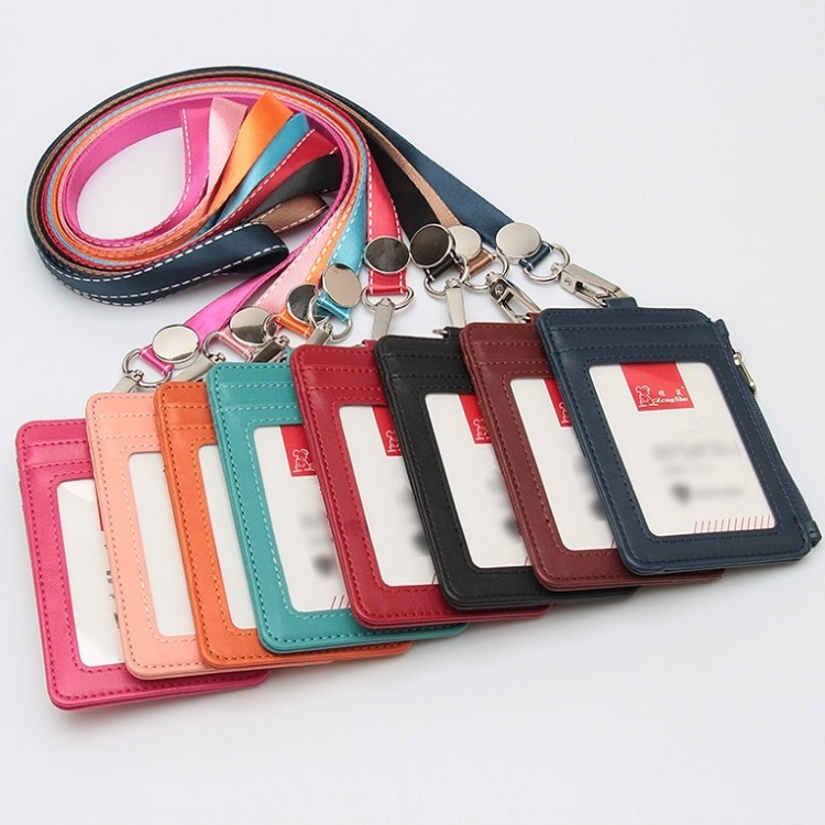 当店一番人気 定期入れ パスケース IDケース カード収納 縦型 社員証 IDカードホルダー 特価 送料無料 メンズ ファスナー付き ネックストラップ カードケース デポー icカード フェイクレザー コインケース レディース IDカード