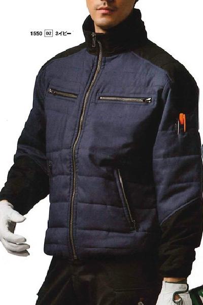 1550 防寒ジャケット 軽量 細身シルエット 日新 RAKAN S~4L【会社制服Sanapparel】