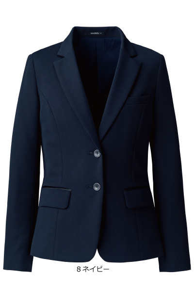 AJ0263 ジャケット テーラード エコツイルニット バイオペット 環境に優しい 事務服 オフィス 大きいサイズ Eco 使い勝手の良い A191シリーズ 正規品 Twill Knit きれい見えテーラード 小さいサイズ5号~21号 会社制服Sanapparel ボンマックス