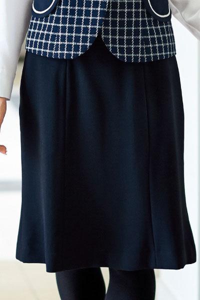 事務服 制服 en joie51411 ティアードスカート ブラック ファクトリーアウトレット 年間 会社制服Sanapparel 大注目 ネイビー