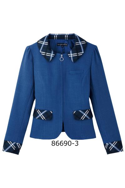 86690-3 ジャケット 華やぎコンシェルジュ Earth Blue 祝日 アースブルー おもてなし 事務服 大きなサイズ 会社制服Sanapparel 送料無料 一部地域を除く アンジョア 5号~25号