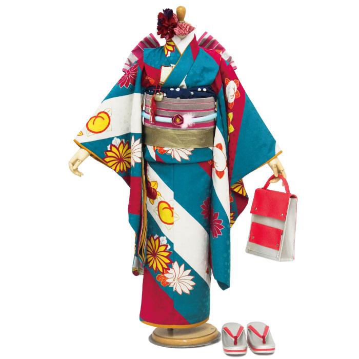 【送料込み価格】 モダンアンテナ(modern antenna)2016年モデル 七五三 四つ身着物フルセット七歳7才7歳女児ブランド着物セット D-3